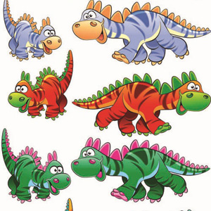 Dinosaurs-Cartoon-Style-Vector